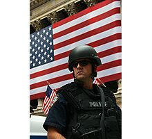 NYPD Wall St Photographic Print