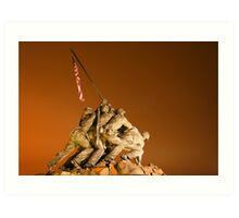 Iwo Jima monument at night Art Print