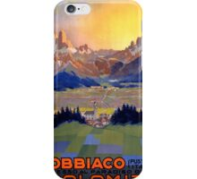 Dobbiaco Toblach Italy Vintage Travel Poster Restored iPhone Case/Skin