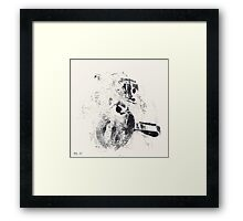 Typographical Grenades #3 - Monotype Framed Print