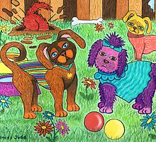 'Cracked Dogs' In The Park by Lisafrancesjudd