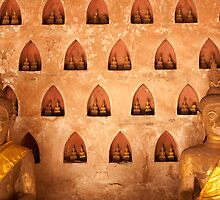 Buddhas at Wat Si Saket by fab2can