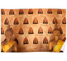 Buddhas at Wat Si Saket Poster