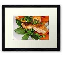 Zander and Vegetables Framed Print