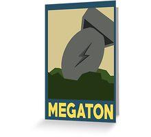 Retro Megaton Greeting Card