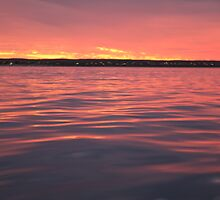 Exmouth town from Exmouth Gulf  by ecclesterry