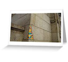 lego wall in Manhattan Greeting Card