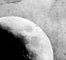 She - The moon - Grunge Black and White by Denis Marsili - DDTK