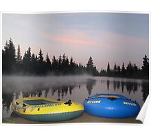 Raft boats Poster