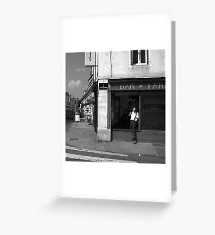 Cutting A Corner - Nancy, France Greeting Card