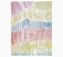 Magic Stairs - white doodle over watercolor One Piece - Long Sleeve
