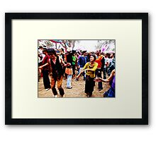 Dancefloor tranced Framed Print