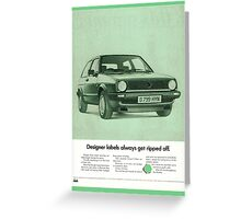 1980's Vw Golf Advert! Greeting Card