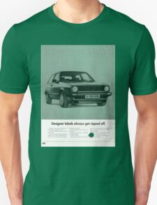 1980's Vw Golf Advert! T-Shirt