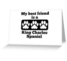 My Best Friend Is A King Charles Spaniel Greeting Card