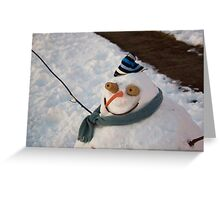 Winter - I'm ready for my closeup Greeting Card