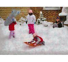 Winter - Winter is Fun Photographic Print