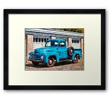 Truck - An International old truck Framed Print