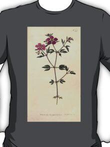 The Botanical magazine, or, Flower garden displayed by William Curtis V7 V8 1794 0052 Fagonia Cretica, Cretian Fagonia T-Shirt