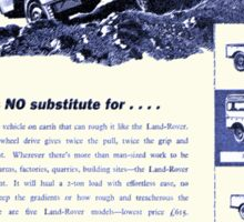 Classic Land Rover Advert! Sticker