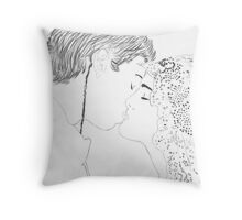 Anakin and Padme Wedding Re-draw Throw Pillow
