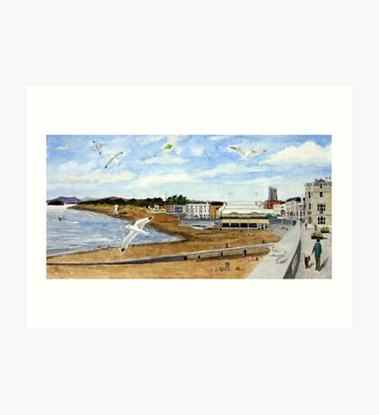 """On the Breeze"" - Esplanade, Burnham-on-Sea Art Print"