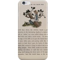 The Queen of Pirate Isle Bret Harte, Edmund Evans, Kate Greenaway 1886 0025 On a Log iPhone Case/Skin