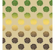 Gold And Green Floral Pattern Photographic Print