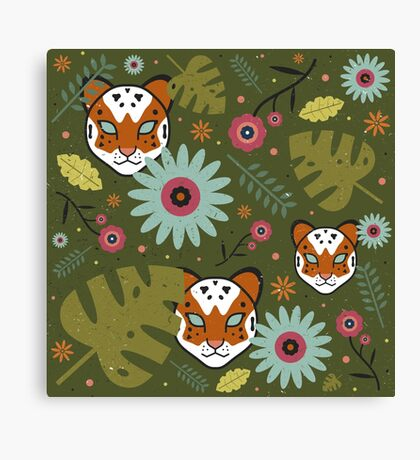 Tigers in the Jungle Canvas Print