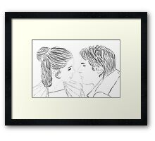 Han and Leia Bespin Re-draw Framed Print