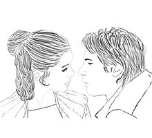 Han and Leia Bespin Re-draw Photographic Print