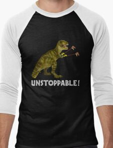 Tyrannosaurus Rex with Grabbers is UnStoppable 2 Men's Baseball ¾ T-Shirt
