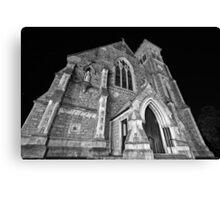 Liberty Church - Wide Angle Monochrome Canvas Print