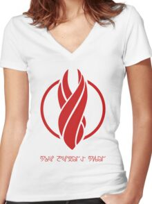 The Devil's Tail Women's Fitted V-Neck T-Shirt
