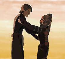 Anakin and Ahsoka by BellaAlderton