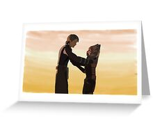 Anakin and Ahsoka Greeting Card