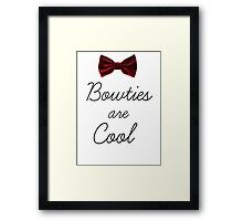 Bowties Are Cool Framed Print