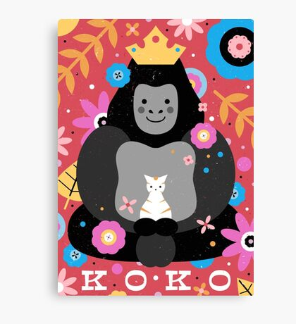 Koko the Gorilla  Canvas Print