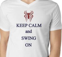 Keep Calm and Swing On Mens V-Neck T-Shirt