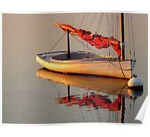 Sailboat at Dusk Poster