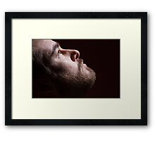 Looking at the light Framed Print