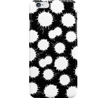 Inky Blots - White on Black iPhone Case/Skin