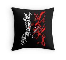 Naruto Shippuden 9 Tails Kyuubi Demon Fox Kurama Cosplay Anime T Shirt Throw Pillow