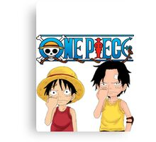 Luffy and Ace Canvas Print