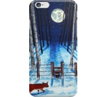 A moonlit stroll iPhone Case/Skin