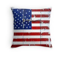 One Tired Ole Flag Throw Pillow