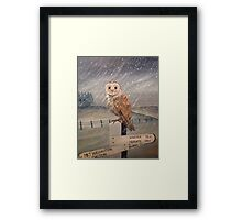 Waiting for the storm to pass.... Framed Print