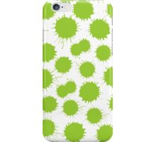 Inky Blots - Martian Green on White iPhone Case/Skin