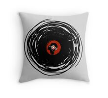 I'm spinning within with a vinyl record... GRUNGE TEXTURE Throw Pillow