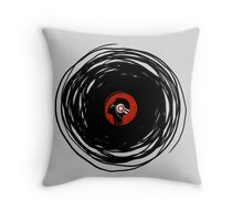 I'm spinning within with a vinyl record... Throw Pillow